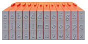 Mason Row XL-58007 36-Piece Lowercase Alphabet Clickable Bodoni Font Stamp Set