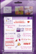 See D's Crafty Phrases Scrapbook 20 Rubber Stamps W/Case # 50144 Sugarloaf