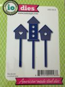 Impression Obsession io Steel Die # DIE156-H Birdhouse Set Die US American Made