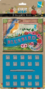 Gcd Studios Chip Art Alphabet Stamp and Punch Set, Bluebird Numbers and Glyphs 1.3cm