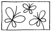 Stampendous Rubber Stamp-Butterfly Window