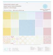 Martha Stewart Crafts Paper Pad, Pastels, 30cm by 30cm , 42 Sheets