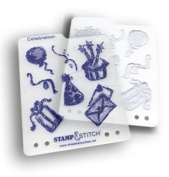 Timeless Touches Stamp & Stitch, Stamp & Template Set - Celebration
