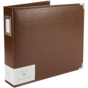Project Life 380102 Album - 12 x 12 - D-Ring - Classic Faux Leather- Cinnamon