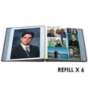 Pioneer Refill Pages for the PMV-206 Post Bound Magnetic Album, Six Packs of 5 Sheets, 30 Sheets Total
