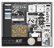 me & my BIG ideas 30cm by 30cm Scrapbooking Box Kit, Black and White, Neutral Memories