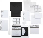 Wilton Scroll Monogram Pocket Invitation Kit Black/White