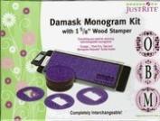 Damask Monogram Kit, JustRite Stampers