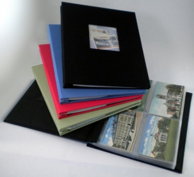 "Hobbymaster Postcard Collecting Album, ""Fabrique"" Linen Style, Spring Green"
