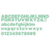 Accucut Zip'eCut, Deluxe Alphabet Die - Husky 1.3cm Uppercase, Lowercase & Numbers