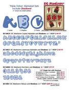 Accucut Zip'eCut, Deluxe Alphabet Die - Madison 1.6cm Uppercase, Lowercase & Numbers