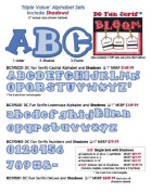 Accucut Zip'eCut, Deluxe Alphabet Die - Fun Serif 1.6cm Uppercase, Lowercase & Numbers