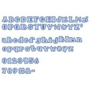 Accucut Zip'eCut, Deluxe Alphabet Die - Fun Serif 2.5cm Uppercase, Lowercase & Numbers