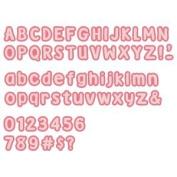Accucut Zip'eCut, Deluxe Alphabet Die - Beary 2.5cm Uppercase, Lowercase & Numbers