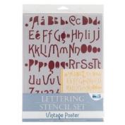 Blue Hills Studio BHS110SET Lettering Stencil Set Vintage Poster