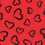 Fanci Felt 23cm x 30cm -Princess Heart-Red 24 per pack