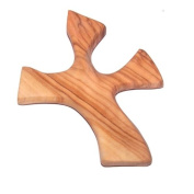 Olive wood Healing Cross - complete Package with Prayers and Certificate (11cm x 9.1cm ) - designed to sit in your hand perfectly