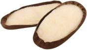Men's Suede Soles 30cm One Pair Sizes 12 and Up-Brown