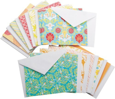 Die Cuts With A View Box of A2 Cards and Envelopes, Citrus, 40-Pack