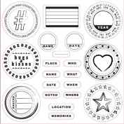 Lil Davis Designs - 8x8 Acrylic Stamps - Noted - 26 Stamps