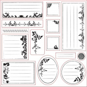 Lil Davis Designs - 8x8 Acrylic Stamps - Secret Garden Collage - 14 Stamp