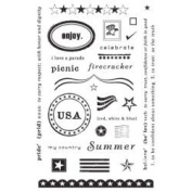 Summer Pride Clear Unmounted Rubber Stamp Set