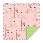 My Little Shoebox Happy Go Lucky Our Place Double Sided Pattern Paper Pack, 25-Sheet 30cm by 30cm