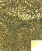 ITALIAN MARBLE - Spiral pattern - Olive / Green.