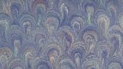 ITALIAN MARBLE - Peacock pattern - Blue Aqua