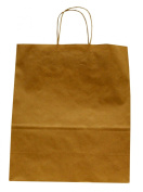 Premier Packaging AMZ-201325 12 Count Shoppers Gift Bag, 13 by 15cm by 39cm , Kraft