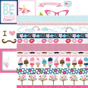 Bella Blvd Kiss Me Borders and Cute Cuts Scrapbook Paper
