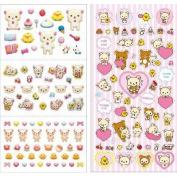 San-x Rilakkuma 4 Kinds Happy Stickers Pink