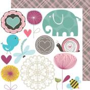 Bella Blvd Cute Cuts Lovey Dovey Paper