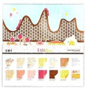 SEI A Fair Day 30cm x 30cm Papers Assortment Pack & Sticker Sheet Alphabet 24 Sheets 12 Designs NEW