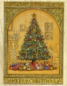Merry Christmas Tree Rubber Stamp