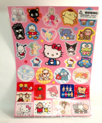 Hello Kitty Stickers with Sanrio Characters Sheet - 12 Sheets Set