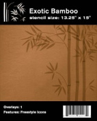 Faux Like a Pro Exotic Bamboo Stencil, 34cm by 38cm , Freeform Allows You to Adjust Height and Width