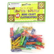 Miniature craft clothespins - Case of 24