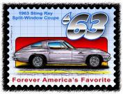 Stingray Postage Stamp Series - 1963 Sting Ray Split-Window Coupe