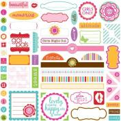 Bella Blvd Label Additions Flirty Cardstock Stickers