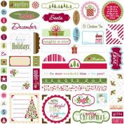 Bella Blvd Label Additions December Details Cardstock Stickers