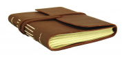 Rustic Classic Genuine Leather Journal - 13cm x 18cm - Dark Brown