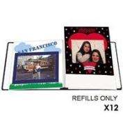 Pioneer #RW85 Deluxe E-Z Load Scrapbook Refill Pages, 20cm x 28cm , White, Pack of 12