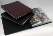 "Hobbymaster Postcard Collecting Album, ""Impresse"" Leather Style, Pure Black"