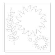 Sizzix - Bigz Pro Die - Quilting - Die Cutting Template - Flower, Piccadilly Sunflower