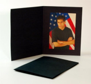 Cardboard Photo Folder for a 5x7 Photo - Black Waffled - Pack of 50