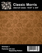 Faux Like a Pro William Morris Wallpaper Stencil, 50cm by 60cm , Single Overlay