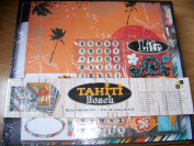 DCWV Tahiti Beach Scrapbook Kit with 12 x 12 Album, 20 - 12 x 12 pages +