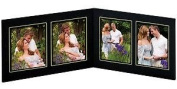 4-opening 4x6 Black w/gold foil border cardstock photo frame sold in 10's - 4x6