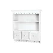 Doodlebug Fashion Furnishings Collectable Cupboard, White, 3-Drawer and Shelf